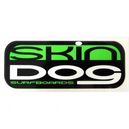 SKINDOG CLASSIC STICKER - Neon Green - Skindog Surfboards