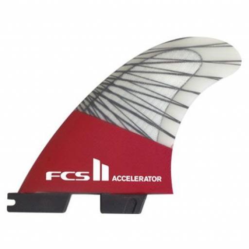 FCS II Accelerator PC Carbon Tri Fin set